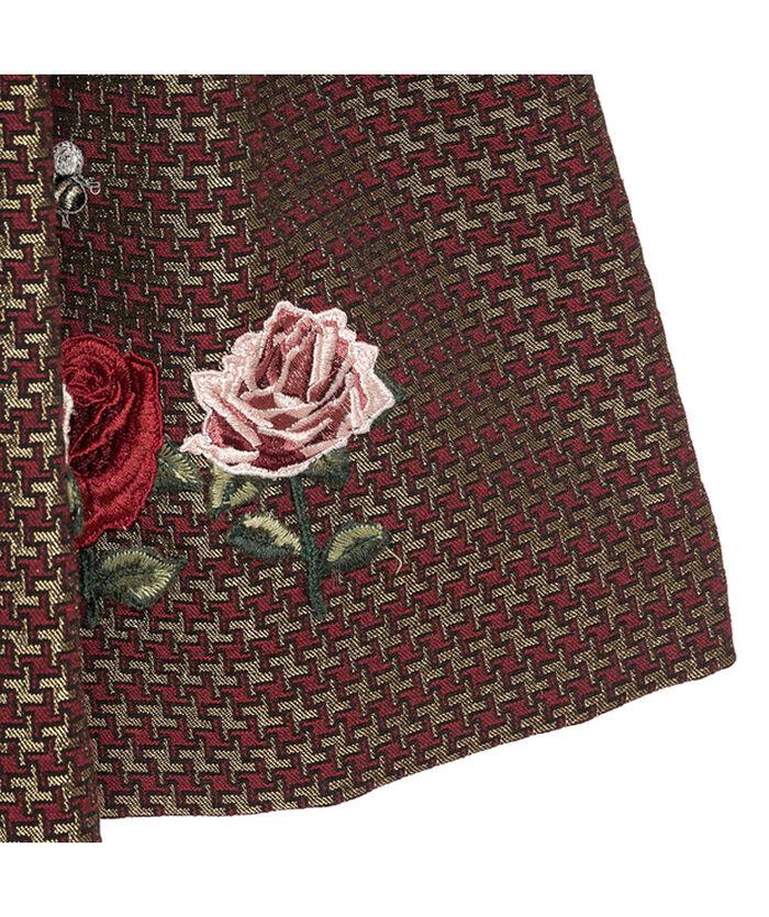 Юбка из жаккардовой ткани с вышивкой