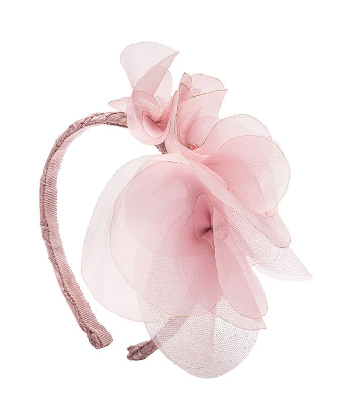 Кружевной обруч с цветком