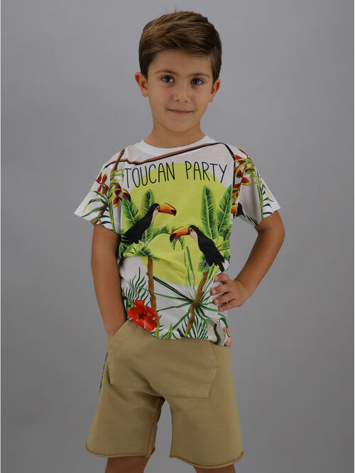 Tucan print t-shirt