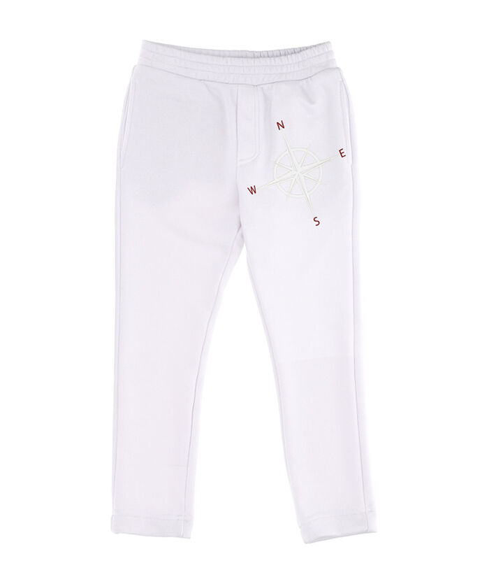 Fleece pants with cardinal points