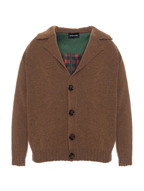 Knitted cardigan w/lining