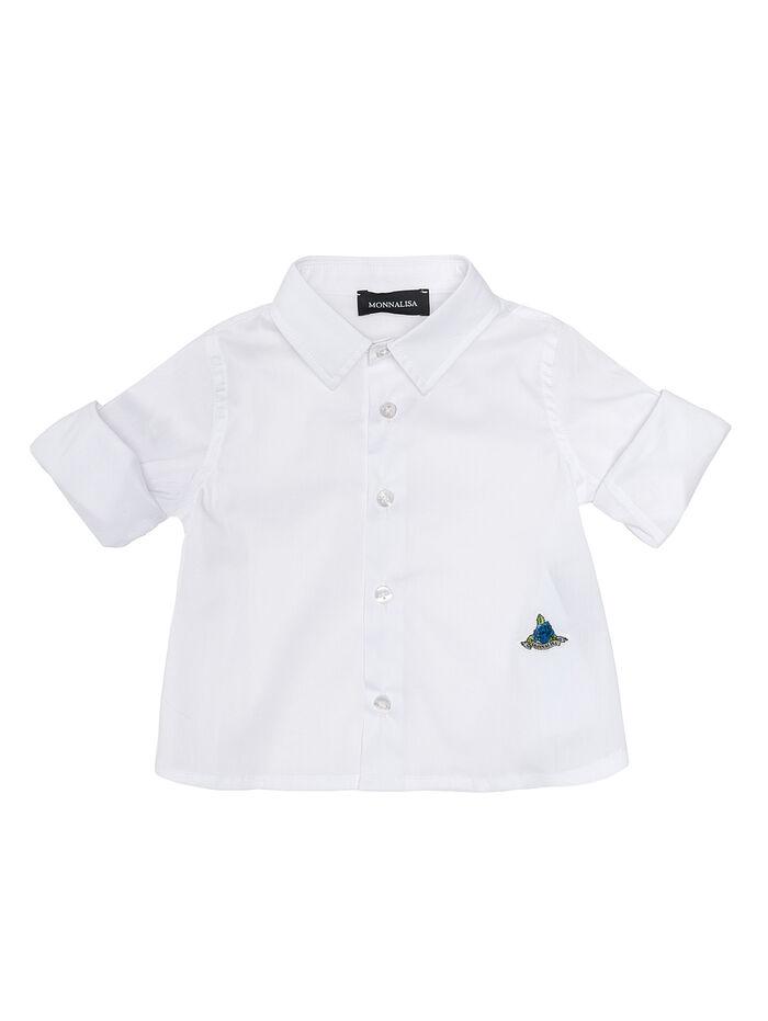 Camisa en algodón popelina