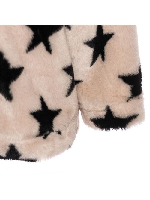 Eco-fur coat with stars
