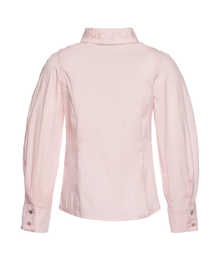 Poplin blouse with a logo