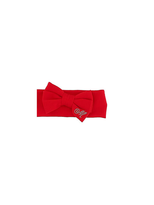 Newborn cotton headband with bow