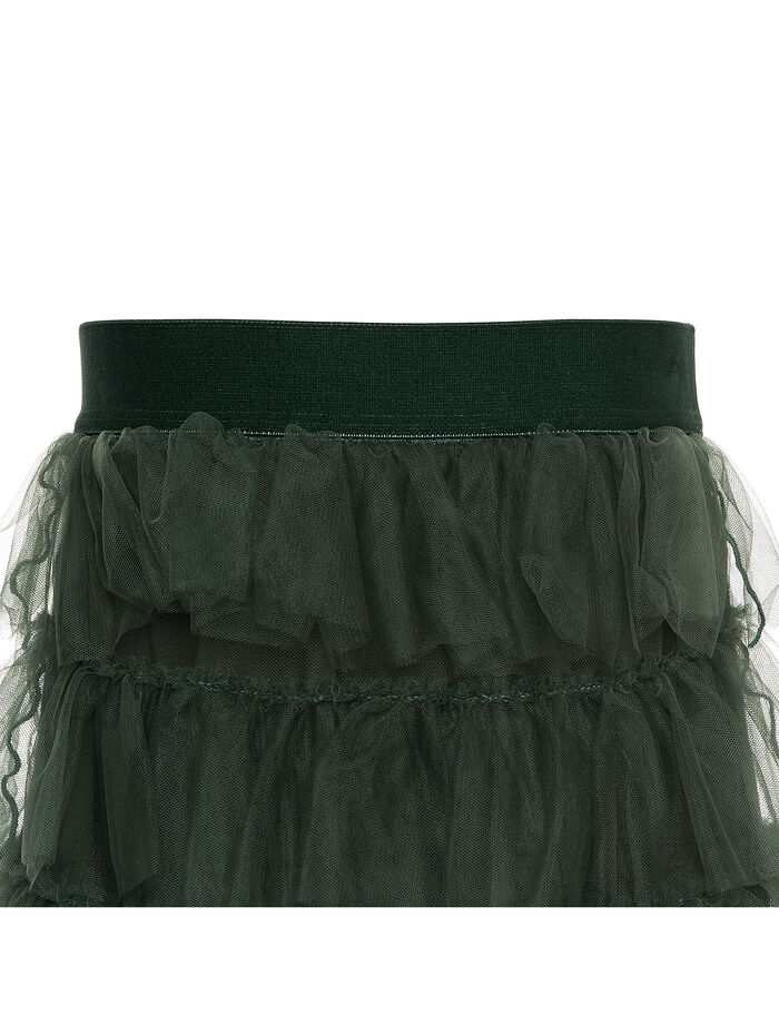 Flounced tulle skirt