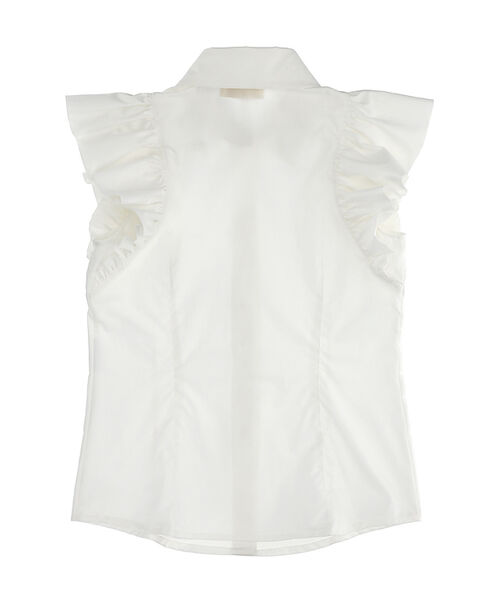 Sleeveless shirt with ruffles