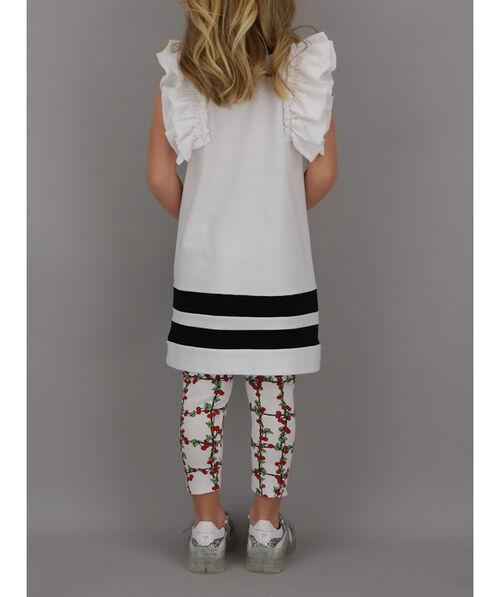 Sweater dress with rhinestones