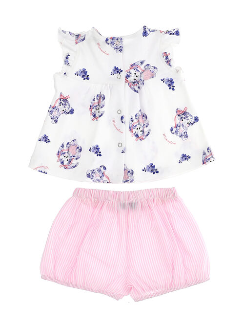 Two-piece baby outfit with little animals