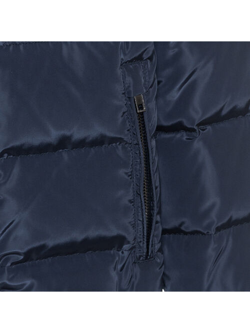 Nylon quilted jacket w/hood