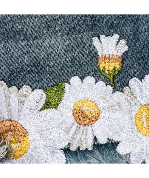 Шорты из ткани стрейч с принтом «маргаритки»