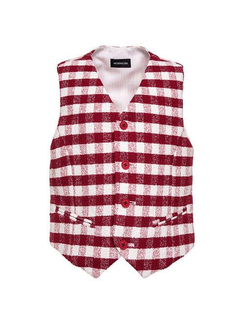 Checked fabric waistcoat