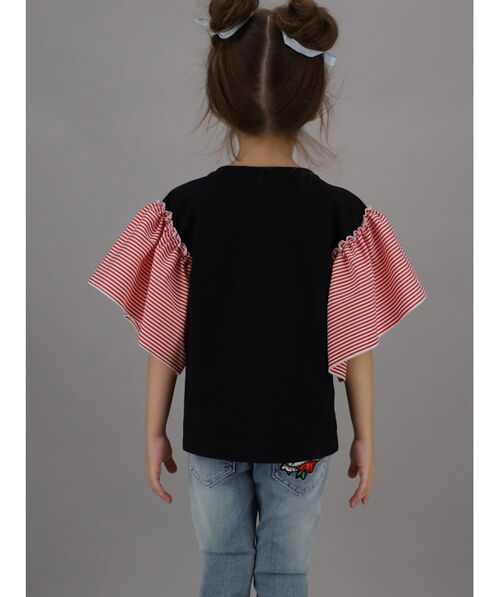 Top with bell sleeves