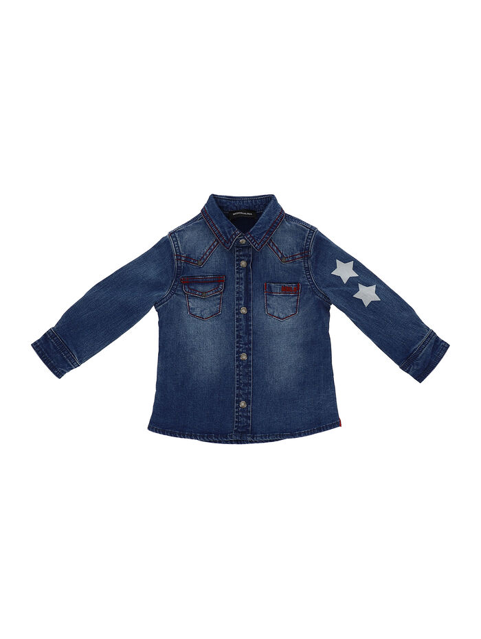 Chambray shirt with stars