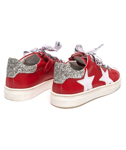 Eco-leather sneakers with stars