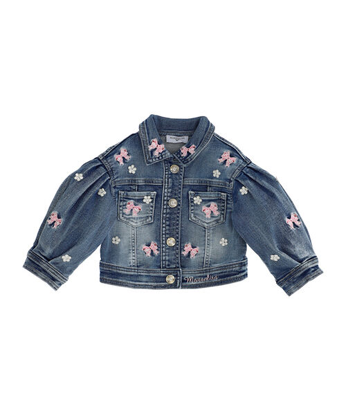 Baby girl jeans jacket, embroidered