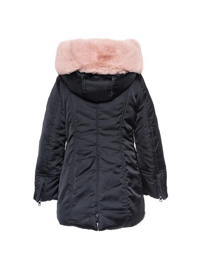 Embroidered short padded jacket