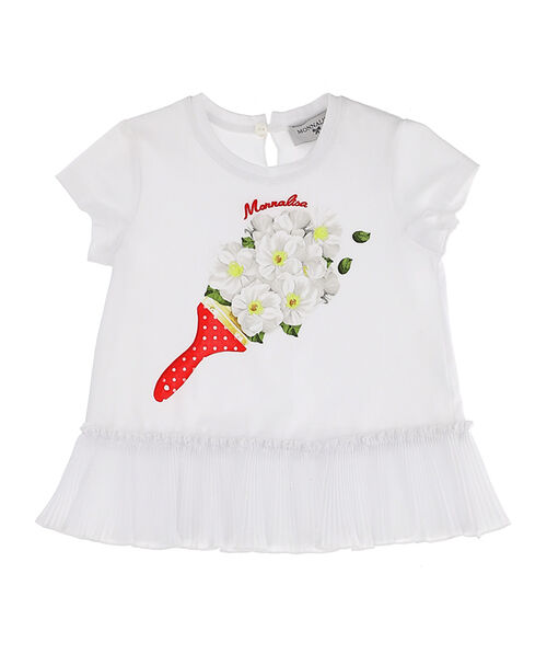 Cotton t-shirt with pleats