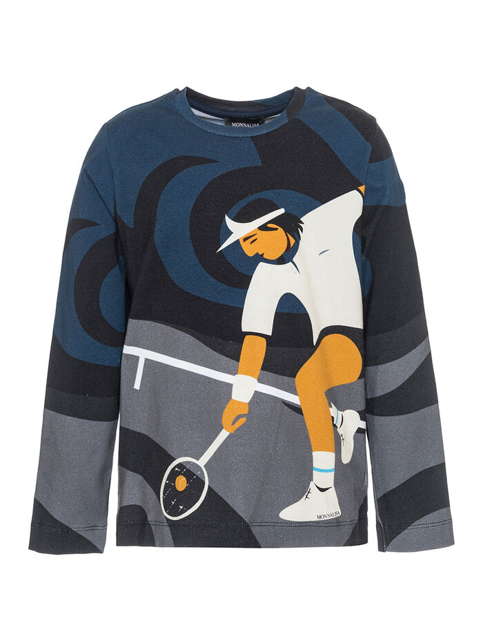 Jersey t-shirt w/tennis player