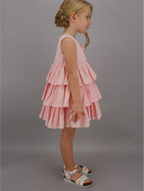 Broderie anglaise pinafore with flounce