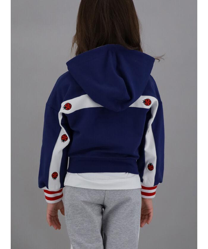 Hooded sweatshirt with embroidery