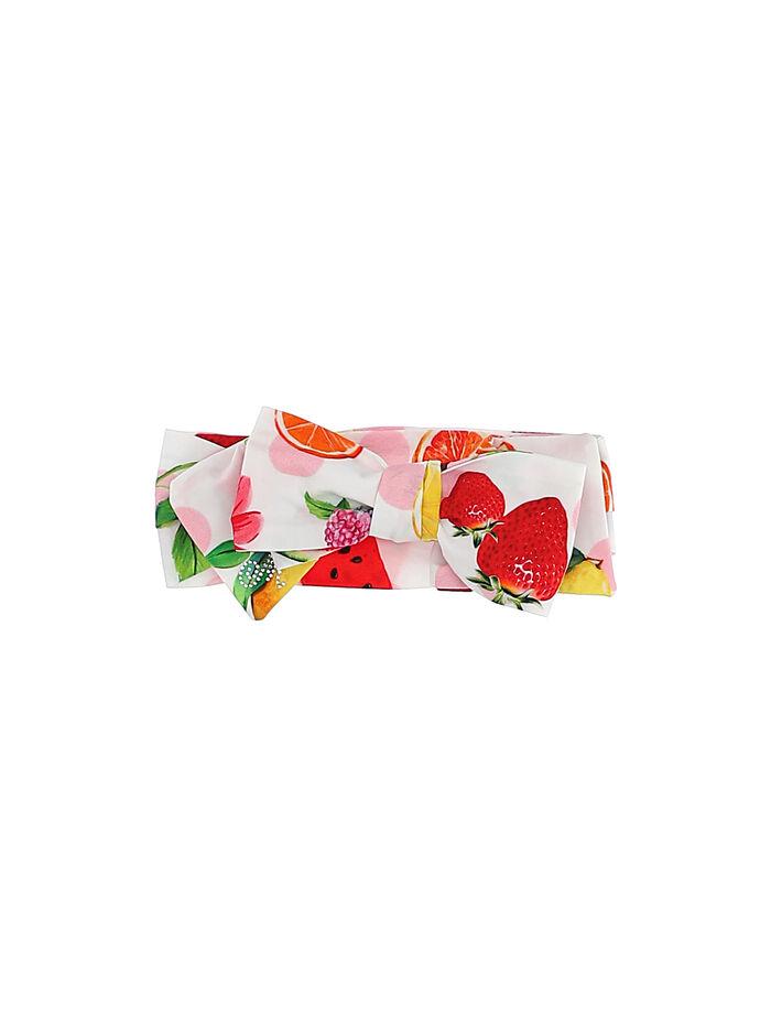 Girl headband with fruit printed bow