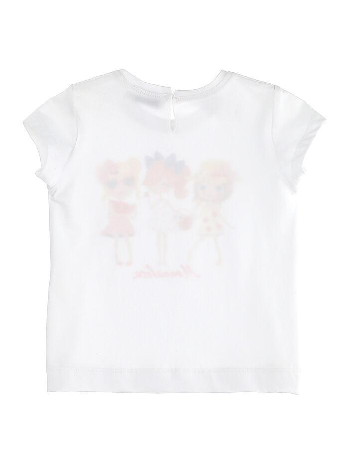 Cotton T-shirt, girl print