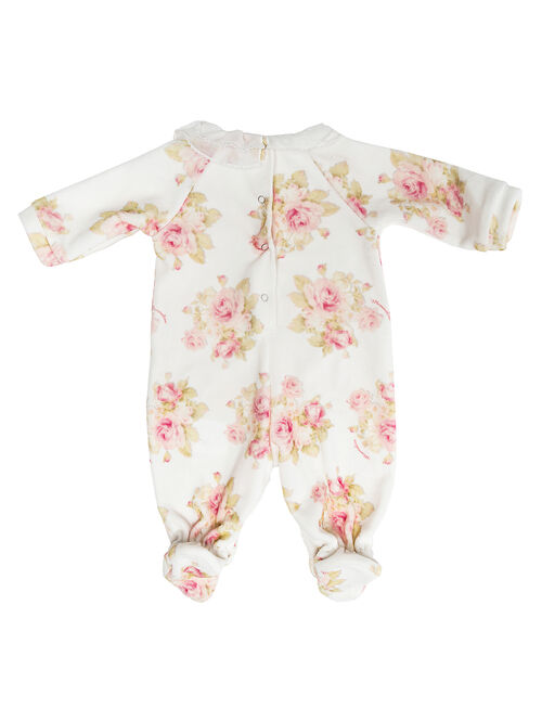 Chenille onesie with roses
