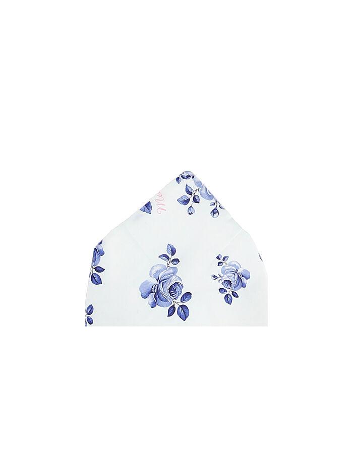 Bandana bimba con rose blu