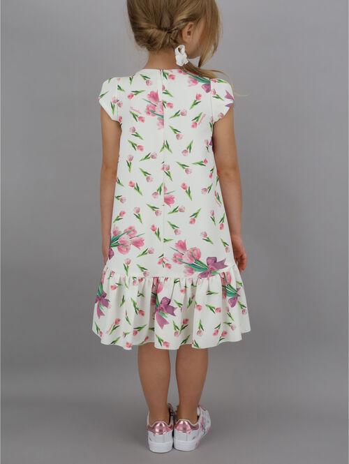 Cady dress with tulip print