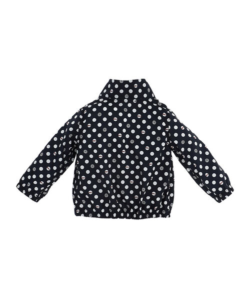 Nylon polka dot windbreaker