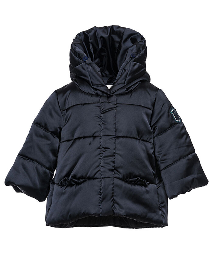 Fake fur nylon coat
