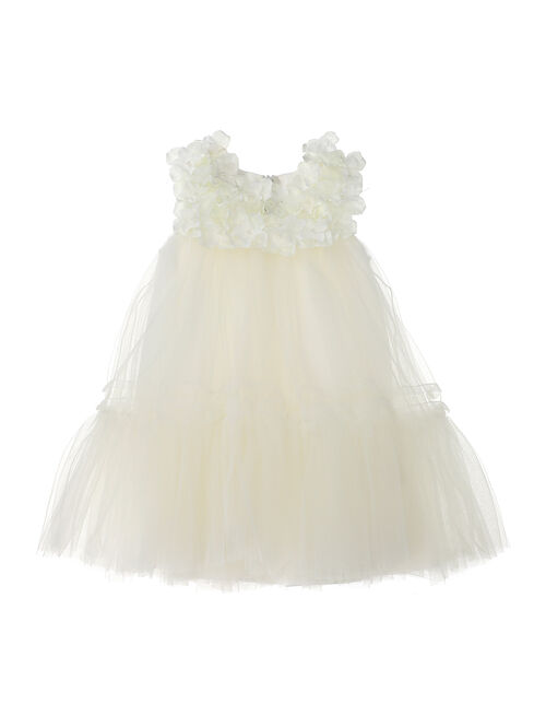 Newborn baby tulle dress with flowers