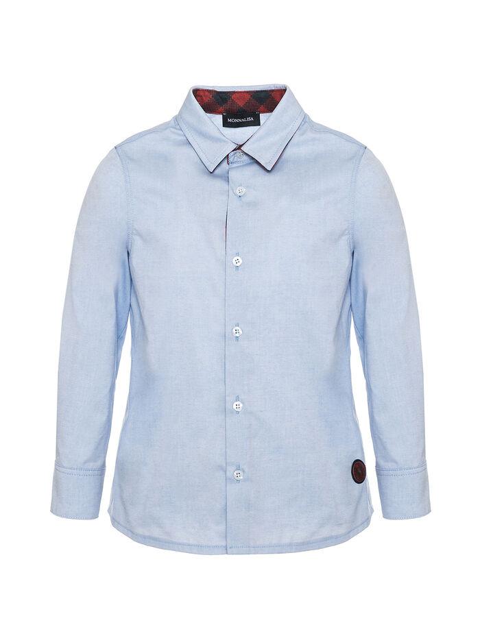 "Рубашка ""Оксфорд"" с заплатками"