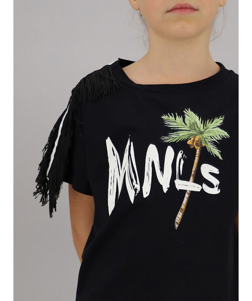 Fringed jersey t-shirt