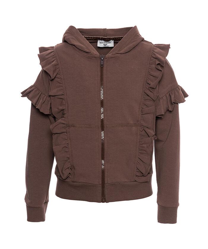 Hooded sweatshirt with a zipper