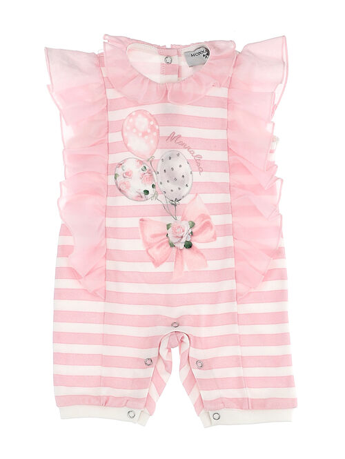 Short striped baby onesie