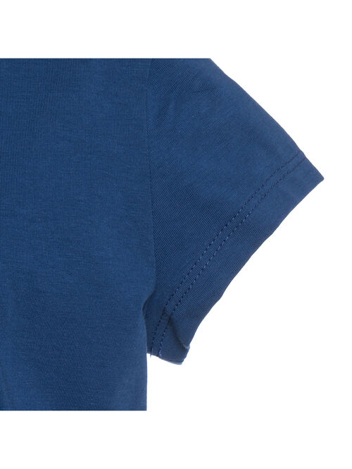Cotton t-shirt with rhinestones