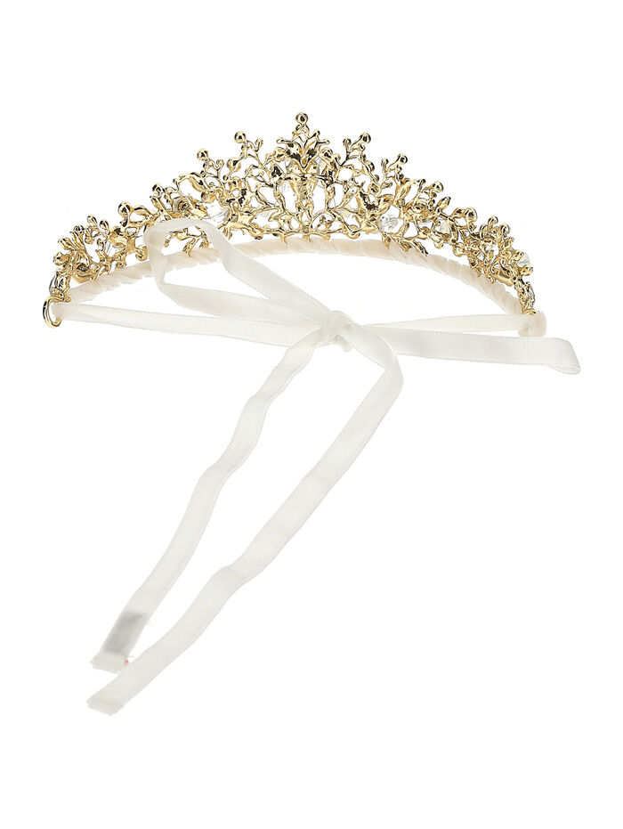 Tiara with two-tone crystals