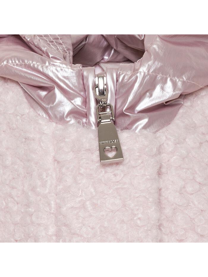 Нейлоновое пальто-букле