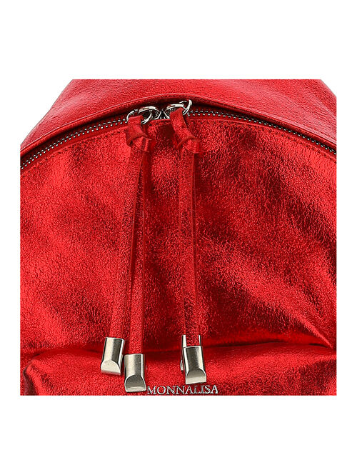 Faux leather laminate backpack