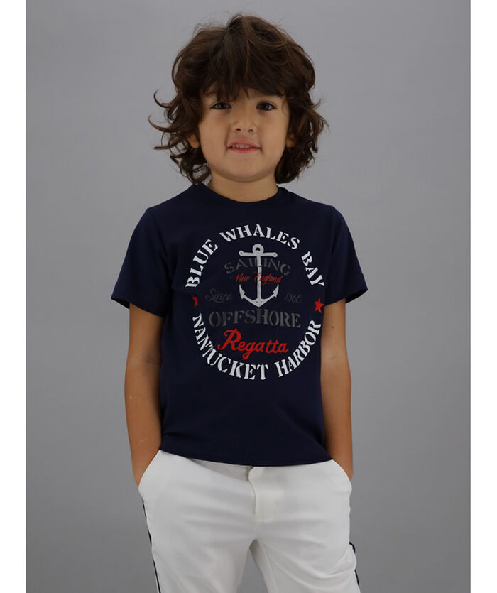 Nautical print t-shirt