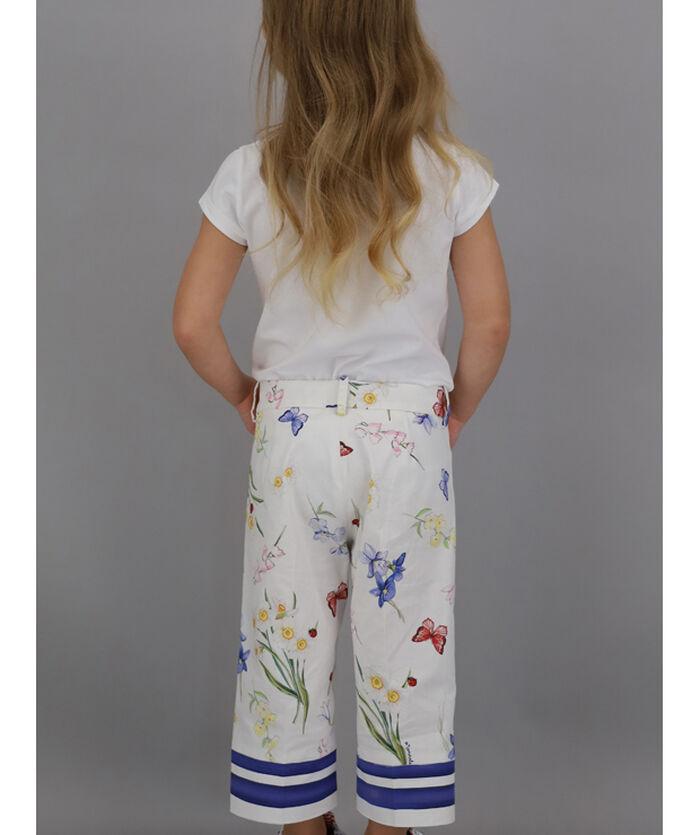 Printed, cropped Ottoman pants