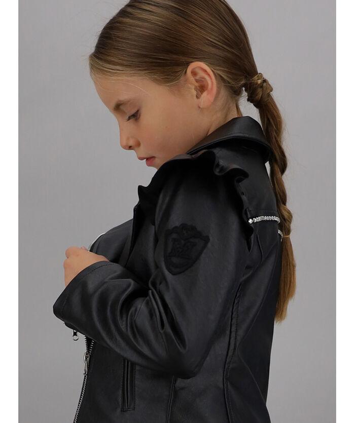 Faux leather studded jacket